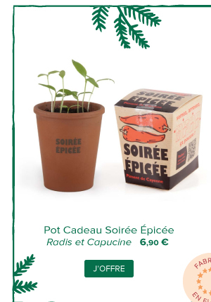 Pot Cadeau Soirée Epicée | Radis et Capucine