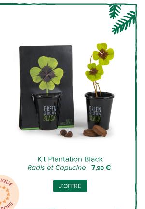 Kit Plantation Black | Radis et Capucine