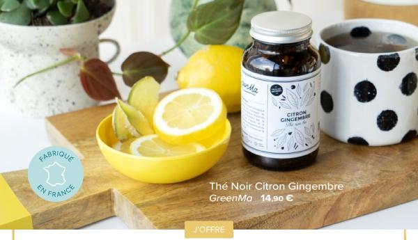 Thé noir citron gingembre | GreenMa